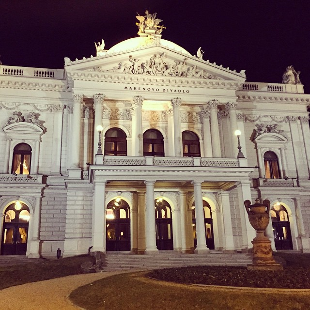 First theater with electric lights, right here in Brno! Who…