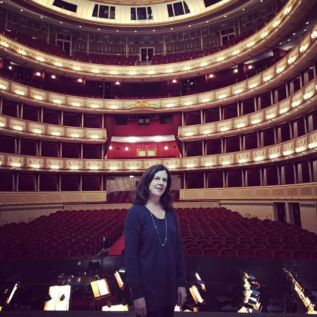On stage at the Vienna Opera! Great day talking to…