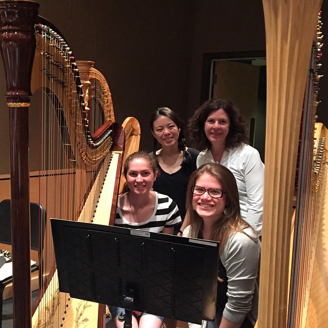 My awesome National Music Festival harp section who rocked Mahlerhellip