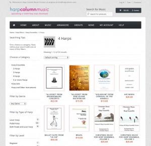 www.harpcolumnmusic.com home page