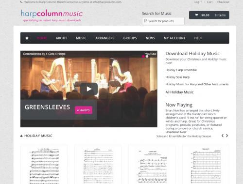 Harp Column Music