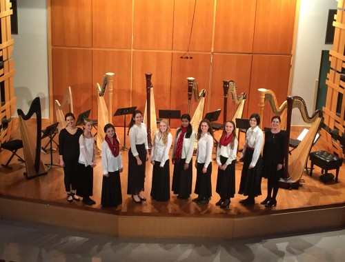 Temple Music Prep Youth Harp Ensemble 2014 Winter Concert.